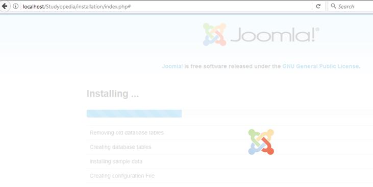 Joomla Installation Stops Error