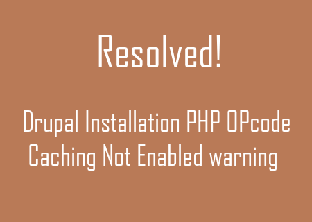 Solve PHP-OPcode-Caching-Not-Enabled-warning