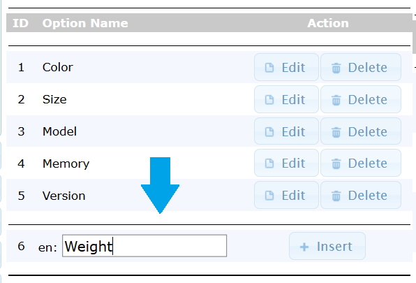 Add osCommerce Product attributes