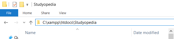 Create project folder in htdocs