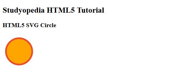 HTML5 SVG Circle