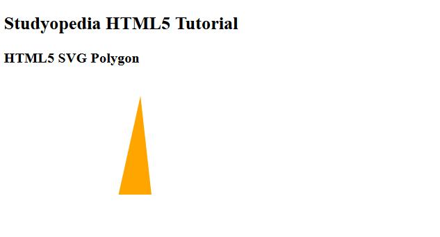 HTML5 SVG Polygon