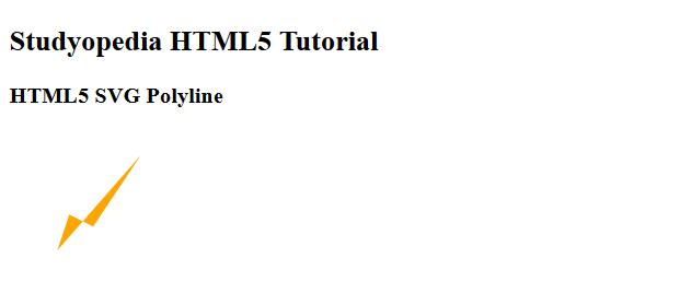HTML5 SVG Polyline