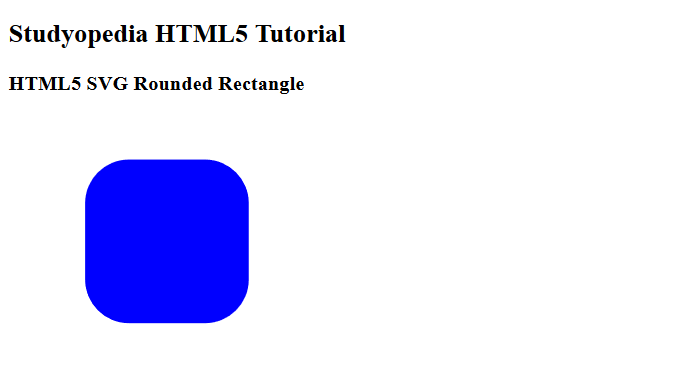 HTML5 SVG Rounded Rectangle