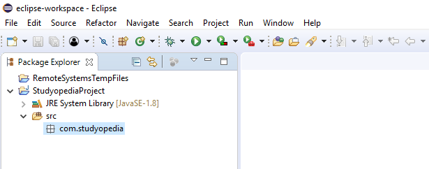 New Java Package created in Eclipse
