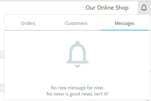 PrestaShop Store Notification section