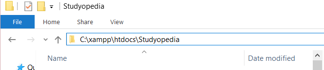 Create project folder in htdocs