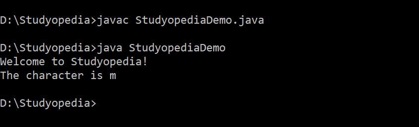 Java String charat method