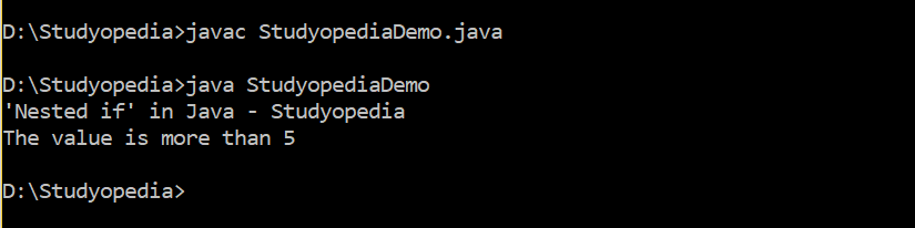 Nested if in Java